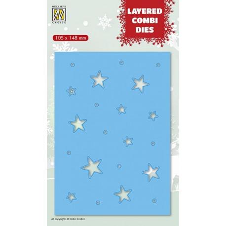 Vyřezávací šablona Layered Combi Dies - hvězdy C
