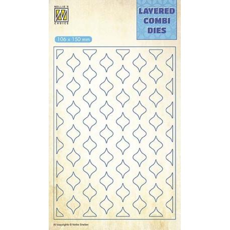 Vyřezávací šablona Layered Combi Dies - oválky B