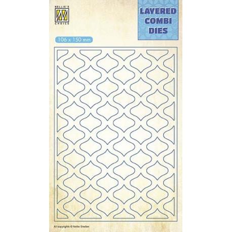 Vyřezávací šablona Layered Combi Dies - oválky A