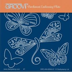 Akrylová deska - vážka a motýlci (GP)