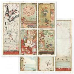 Oriental Garden, pět obrázků 30,5x30,5 scrapbook