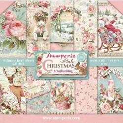 Sada papírů 20,3x20,3 190g Pink Chrismas