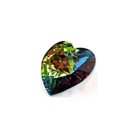 Swarovski přívěsek Heart crystal-vitrail medium