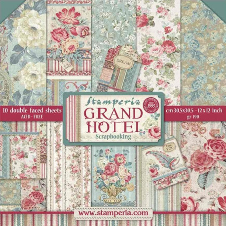 Sada papírů 30,5x30,5 190g Grand Hotel