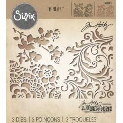 Vyřezávací šablony - květiny mix média (Sizzix)