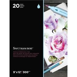 Akvarelový papír bílý 9x12inch, 300gsm, 20 listů (Spectrum Noir)