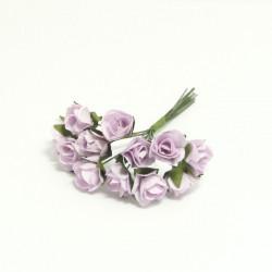 Papírové růžičky růžové - 15mm, 12ks