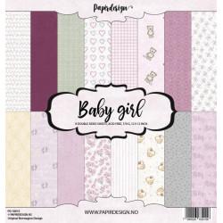 Sada papírů 30,5x30,5 170g Baby Girl (Papirdesign)