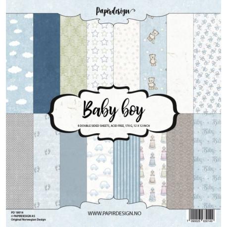 Sada papírů 30,5x30,5 170g Baby Boy (Papirdesign)