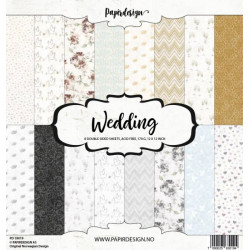 Sada papírů 30,5x30,5 170g Wedding (Papirdesign)