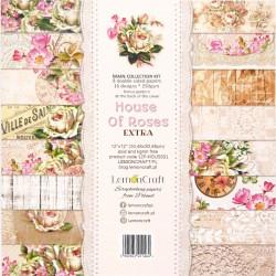 Sada papírů 30,5x30,5 House of roses EXTRA + bonus