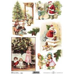 Papír rýžový A4 Vánoční retro obrázky