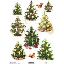Papír rýžový A4 Vánoční stromky