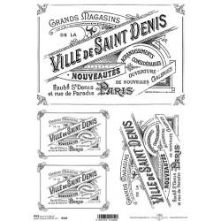 Papír rýžový A4 etiketa Ville de Saint Denis