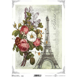Papír rýžový A4 Kytice a Eiffelovka