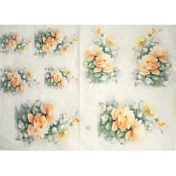 Papír rýžový 35x50 Oranžové růže