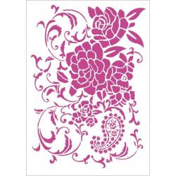 Šablona - Květinová dekorace (A4)