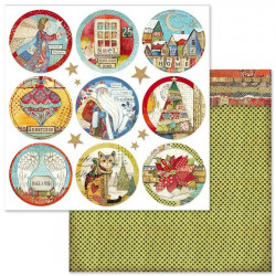 Make a Wish, kulaté obrázky 30,5x30,5 scrapbook