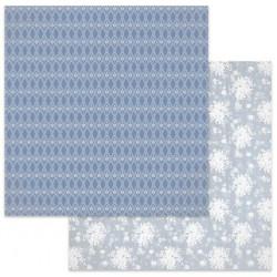 Winter Star, květinové nebe 30,5x30,5 scrapbook