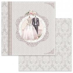 Wedding, svatební šaty 30,5x30,5 scrapbook