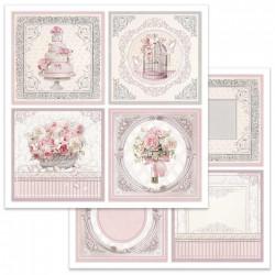 Wedding, čtyři obrázky 30,5x30,5 scrapbook