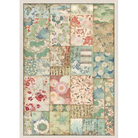 Papír rýžový A4 Oriental Garden - Patchwork