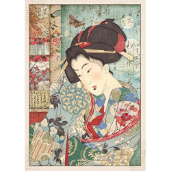 Papír rýžový A4 Oriental Garden - Gejša