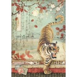 Papír rýžový A4 Oriental Garden - Tygr