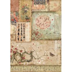 Papír rýžový A4 Oriental Garden - Větev Sakury