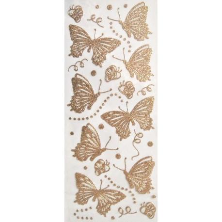 Samolepky motýlci třpytiví