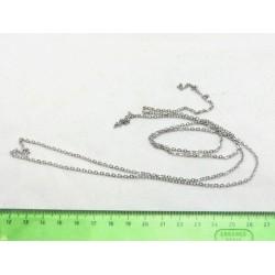 Řetízek 1m jemný - starostříbro
