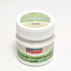 Lepidlo a lak na decoupage textilu 50ml (Pentart)