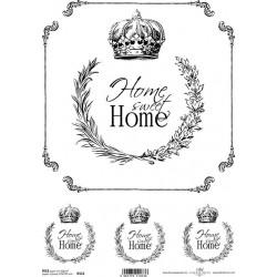 Papír rýžový A4 Home Sweet Home, koruna