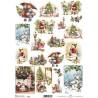 Papír rýžový A4 Vánoční retro obrázky III