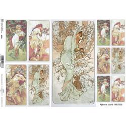 Papír rýžový A4 Alfons Mucha