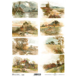Papír rýžový A4 Obrázky z venkova II.