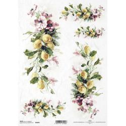 Papír rýžový A4 Citrony a květy