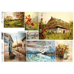 Papír rýžový A4 Obrazy venkova