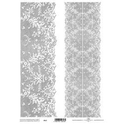 Pergamen pro scrapbook 112g - krajkové bordury