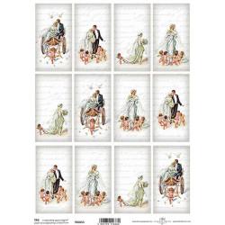 Scrap.papír A4 Kartičky - Svatba