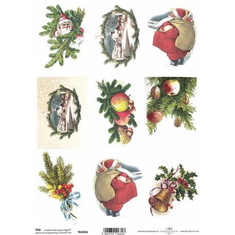 Scrap.papír A4 Obrázky s vánočními motivy