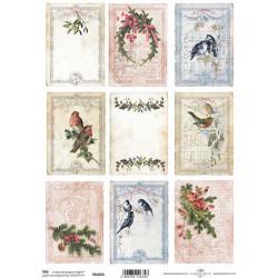 Scrap.papír A4 Kartičky - ptáčci, větvičky