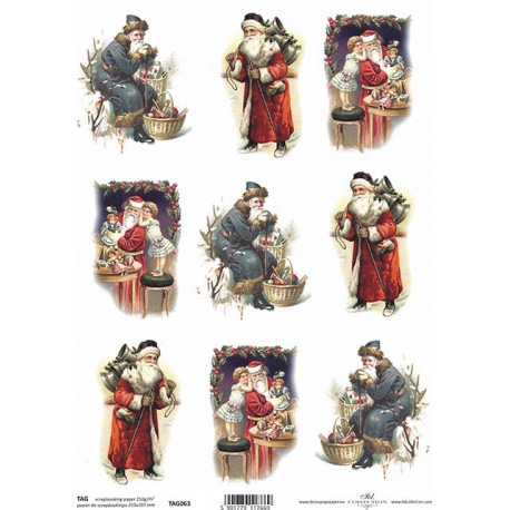 Scrap.papír A4 Obrázky s vánočními muži