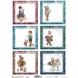 Scrap.papír A4 Vánoční, čtvercové kartičky