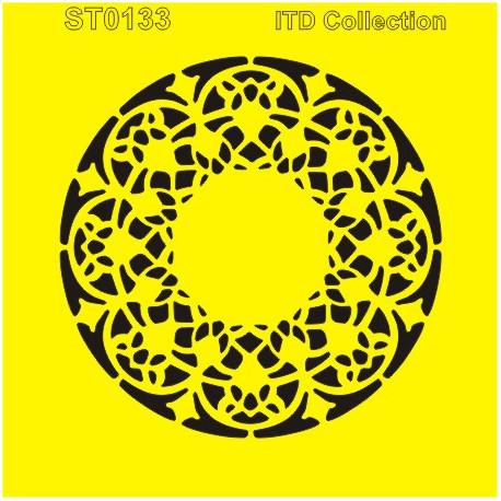 Šablona ITD - Krajkový kruh 16x16