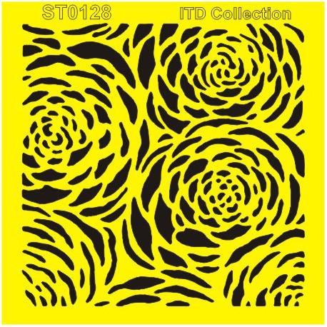 Šablona ITD - Květy 16x16