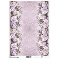 Papír rýžový A4 Bordury z růží na okrajích