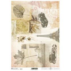 Papír rýžový A4 Eiffelovka, listí