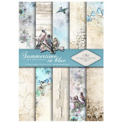 Sada papírů A4 - Summertime in blue (ITD)