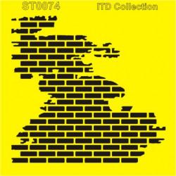 Šablona ITD - Poškozená zeď 16x16